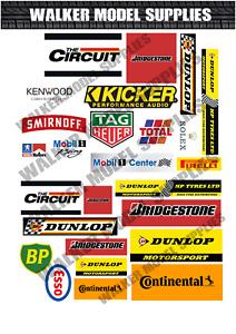 1:18 - 1:24 scale Pre-cut Garage signs/logos Matte stickers/ diorama/model 2