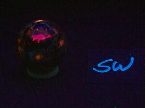 Fluorescent Tugtupite & Sodalite 32mm Greenland Sphere 4761