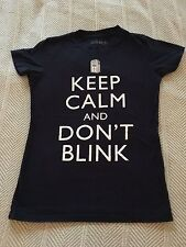 Keep Calm and Don't Blink Dr Who Ripple Junction Black T Shirt Size M