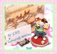 ❤️Wee Forest Folk M-288 Mousie's Matinee Popcorn Movie Mouse Retired WFF 2003❤️