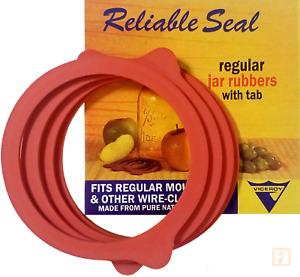 GENUINE Viceroy REGULAR Mouth Mason Jar Canning Seals Natural Rubber (4) Rings