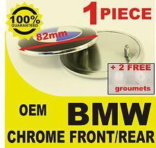 NEW Car Emblem Chrome Front Badge Logo 82mm 2 Pins For BMW Hood/Trunk