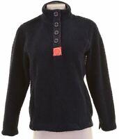JOULES Womens Fleece Jumper UK 10 Small Navy Blue Polyester  HV02