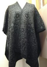 LADIES CAPE PONCHO CHARCOAL GREY MIX SIZE 8/14 EUR 40 B.N.W.T.