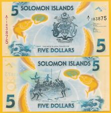 Solomon Islands 5 Dollars p-new 2019 UNC Polymer Banknote