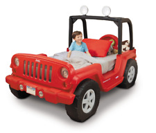 Little Tikes Jeep Wrangler Toddler Kids Twin Bed w Lights Bedroom Furniture Car