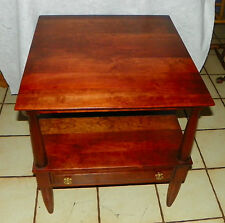 Solid Cherry Mid Century End Table / Side Table by Willett  (T443)
