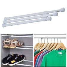 3 Size Tension Curtain Rod Spring Load Adjustable Curtain Pole Heavy-Duty Steel