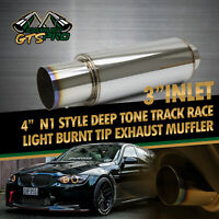 TRACKER STYLE FIT BIMMER 1X SPORT OVAL MATTE BLACK EXHAUST MUFFLER/&  DUAL TIPS