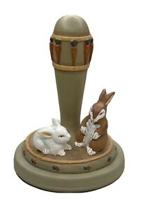 1995 Brown Bag Cookie Art Stamp Press Easter Bunny Rabbits EUC!