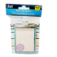 Jot Colorful Wild And Free Mini Clipboard With Notepad 40 Sheets 3.25in x 3.50in