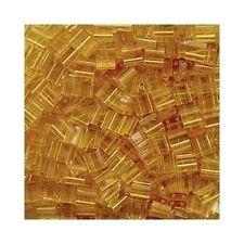 Tila Seed Beads Miyuki Square Transparent Pale Topaz TL132 (7.2gr) 5mm 2 Hole