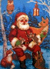 "Craftways Santa Latch Hook Rug Kit ""santa With Wildlife"""
