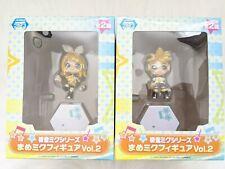 UK SELLER Vocaloid Kagamine Len Rin Mame Miku Figure Vol. Two Set of 2 Japan NEW