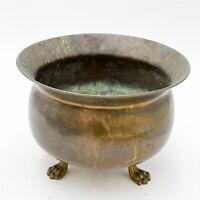 Antique Vintage Brass Censor Burner Bowl with Lion Feet Cencer <F7