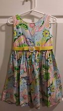 Dollie & Me Youngland Paisley Flower Dress Yellow Ribbon Girls 5 Short Sleeve
