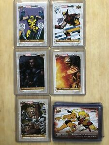 2019 Upper Deck Marvel Weekly Wolverine Complete 13 Card Character Set 250 Made