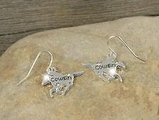 HORSE & WESTERN JEWELLERY SILVER TONE HORSE COWGIRL EARRINGS