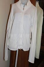 White zip cardigan 12-14, zip front and arm pocket