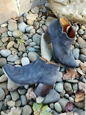 ALBERTO FERMANI blue suede ankle boot size 37 1/2, US size 7 1/2