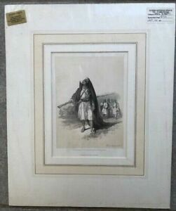 Original Antique Lithograph David Roberts Egypt c1856 Arabs of the Desert Pl 89