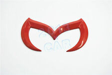 For 2010-2013 Mazda 3 / Mazdaspeed 3 Evil 'M' Rear Trunk Emblem Badge Decal Red
