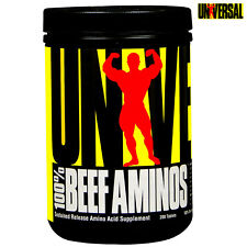 100% BEEF AMINOS 200 Tabs. Whey Protein Anabolic Muscle Growth Amino Acids BCAA