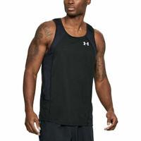 Under Armour UA Threadborne Swyft Mens Black Gym Sports Running Vest