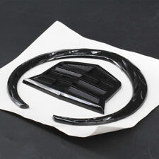 4 Inch For Cadillac Wreath Crest Rear Tailgate Truck Black Logo Emblem Sticker