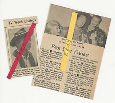 2 ERIC FLEMING TV GUIDE ADS CLIPPINGS RAWHIDE 1962 & 1963