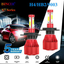 4-Sides CREE H4 HB2 9003 2400W 336000LM LED Headlight Kit Hi/Lo Power Bulb 6000K