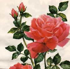 2 single paper napkins for decoupage Collection Serviette Flowers Flower Rose