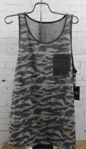 New Tavik Mens Bellmore Tank Sleeveless Pocket Shirt Medium Griffin