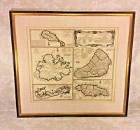 Antique Map of the English Island Domains of America Viis & Co 1655 Jamaica