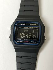 Casio F-91W Negative Display Screen Mod Black Digital Watch