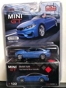 1/64 MINI GT MIJO EXCLUSIVES BMW M4 YAS MARINA BLUE METALLIC 1 OF 2400