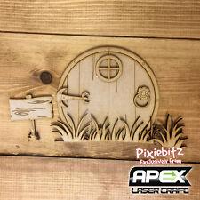 3D Hobbit Door in Tall Grass Fairy Door Kit - Ready to decorate FY-DOOR-004