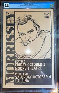 Morrissey Concert Poster Seattle 1997 Ultrasounds Collection Mike King CGC 9.8