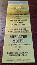 Vintage Matchcover: Buellton Motel, Buellton, CA   42