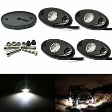 4X White Cree LED Car JEEP ATV Off-Road under glow Underbody Nenon Wheel Light