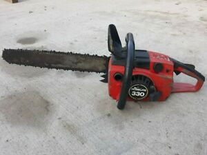 Vintage Homelite 330 Chainsaw, Starts and Idles, Compression