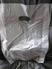 "50 12 x 3 x 18"" Clear HD Die Cut Handhole Plastic Merchandise Bag Handle Hole"