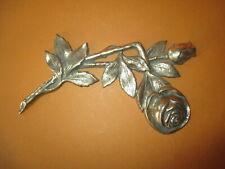 Rosenzweig aus Messing Wandschmuck