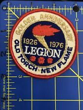 Royal Canadian Legion Patch 1926 1976 Golden Anniversary Old Torch New Flame RCL