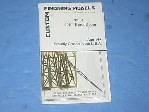 HO Custom Finishes kit: 35 ft brass boom. Etched brass,  new in packet C-9 bd