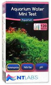 NT Labs Aquarium Mini test Kit 120 tests -Tropical Fish Tank Water testing