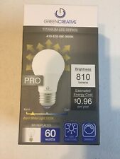 Green Creative LED Light Bulb 98012 A19–E26-8W-3000K 8W Replaces 60W  810 Lumens