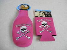 New listing Combo Pirate Girl Pink Neoprene Can and Bottle Suit Skull Crossbones