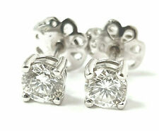 Diamond Studs Earrings Certificated VS 18ct White Gold Certificated 0.63ct