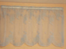 "HERITAGE LACE BLUE HYDRANGEA 30""BY63"" TIER CURTAINS 1 TIER NICE ITEM 3070"